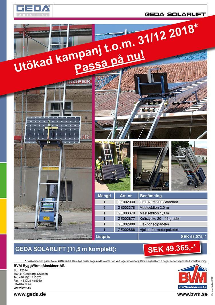 Kampanj GEDA Lift Solar 2018