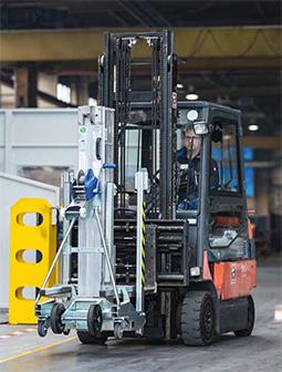 Nya gaffelfickor för trucktransport