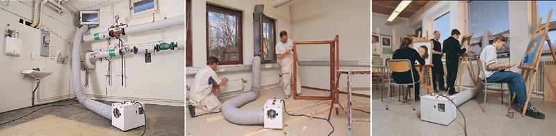 Wind-Box, ventilationsaggregat för hantverkare
