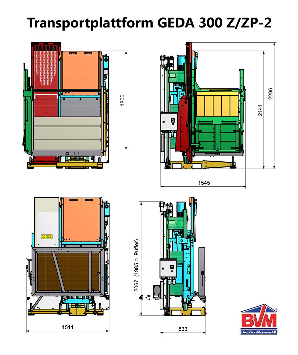 Transportplattform GEDA 300 Z/ZP-2